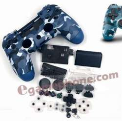 blue camo ps4 controller shell