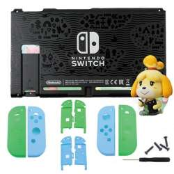 nintendo switch animal crossing new horizons edition replacement shell bundle custom joy con case housing  backplate