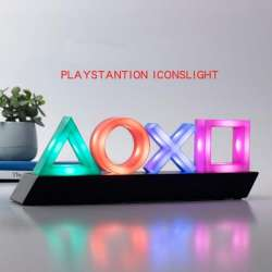 playstation icons lights wall light lamp