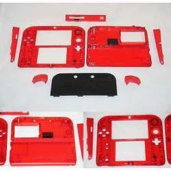 Custom Transparent nintendo 2ds replacement shell clear red