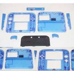 Custom Transparent nintendo 2ds replacement shell clear blue