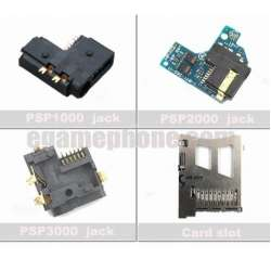 Replacement Headphone jack port board socket Memory stick card slot for psp1000 psp2000 psp3000