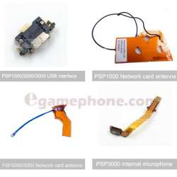 psp 1000 psp2000 psp3000 Data socket USB interface Network card antenna Internal microphone replacement parts