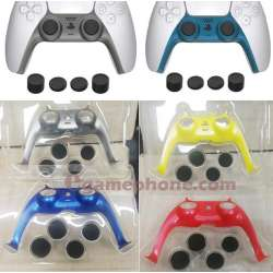 ps5 Dualsense controller faceplate front cover thumb grips colors skins custom
