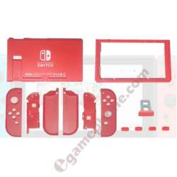 Nintend Switch Mario Red Handle Joy-Con Full Housing Faceplate Shells Case Battery Middle Frame buttons slot cover Bezel Replacement Parts original