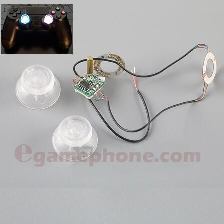 7 Color LED Light Analog Thumb Sticks Mod Clear Thumbsticks For